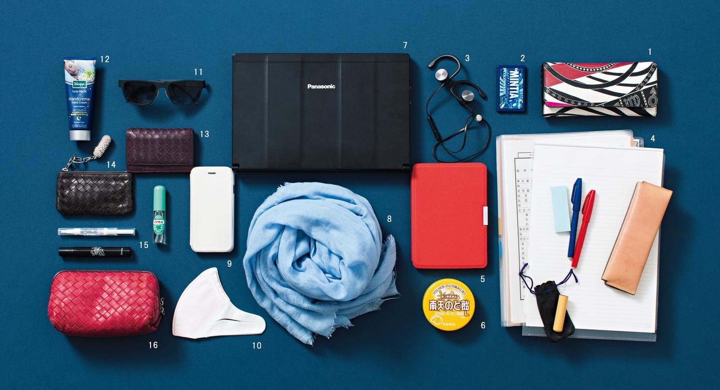 """キャリーケースとトートバッグでスマートな""""動くオフィス""""【働くアラフォーのバッグの中身】_1_2"""