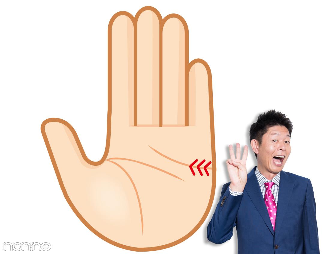 ユーモア線|島田秀平さんの最強手相占い!