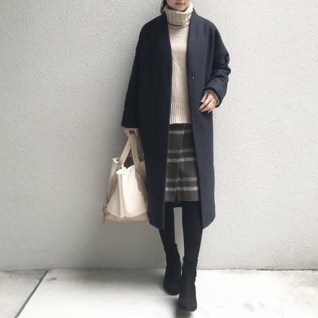 愛用しているニット&スカートで寒い季節のあったかコーデ_1_1