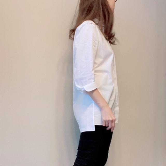 ユニクロ「+J」スタンドカラーシャツに合わせる小物とメイク_1_2-2