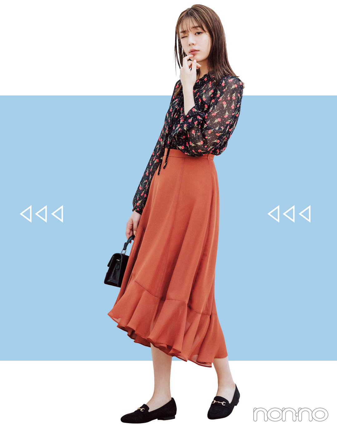 2019秋トレンド★ シフォン風スカートなら今から3か月、5通りに着回せる!_1_3-4