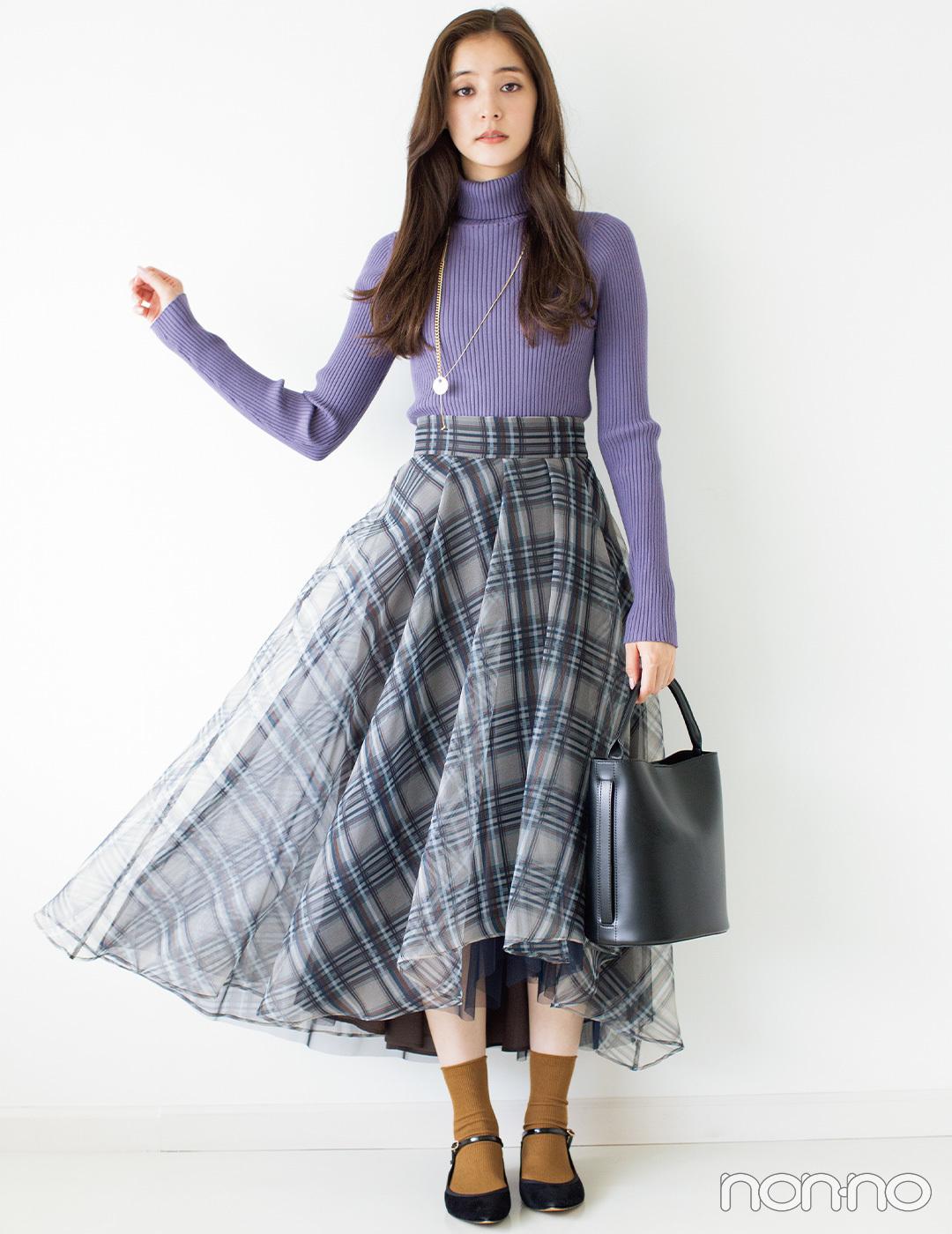 新木優子は気分が上がるドラマティックスカートが今日の主役【毎日コーデ】