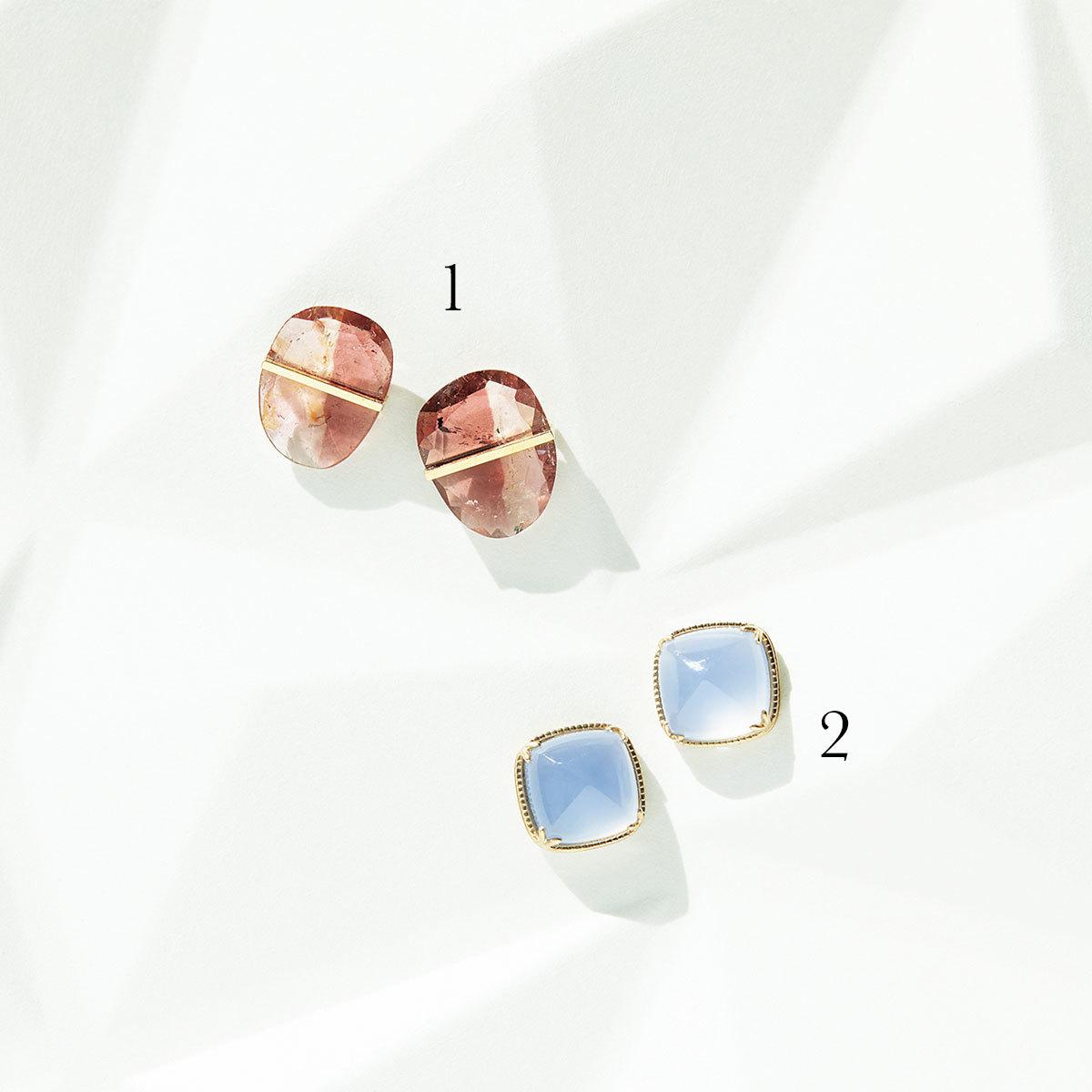 色石ピアス3