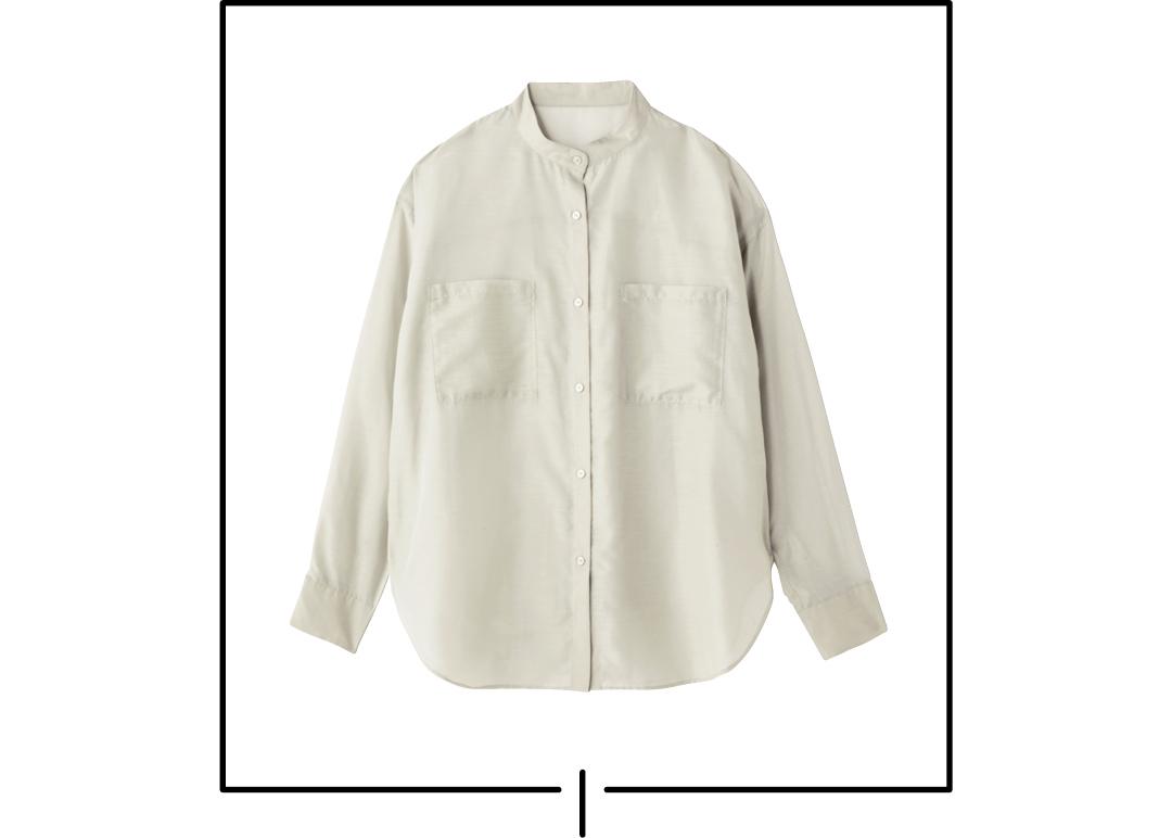 バンドカラーのシャツが新鮮&3か月着回せるを実証★【正義の春服】_1_6