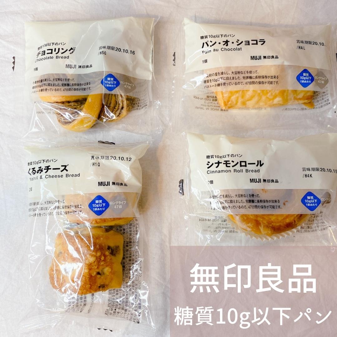 無印良品の「糖質10g以下シリーズ」パン