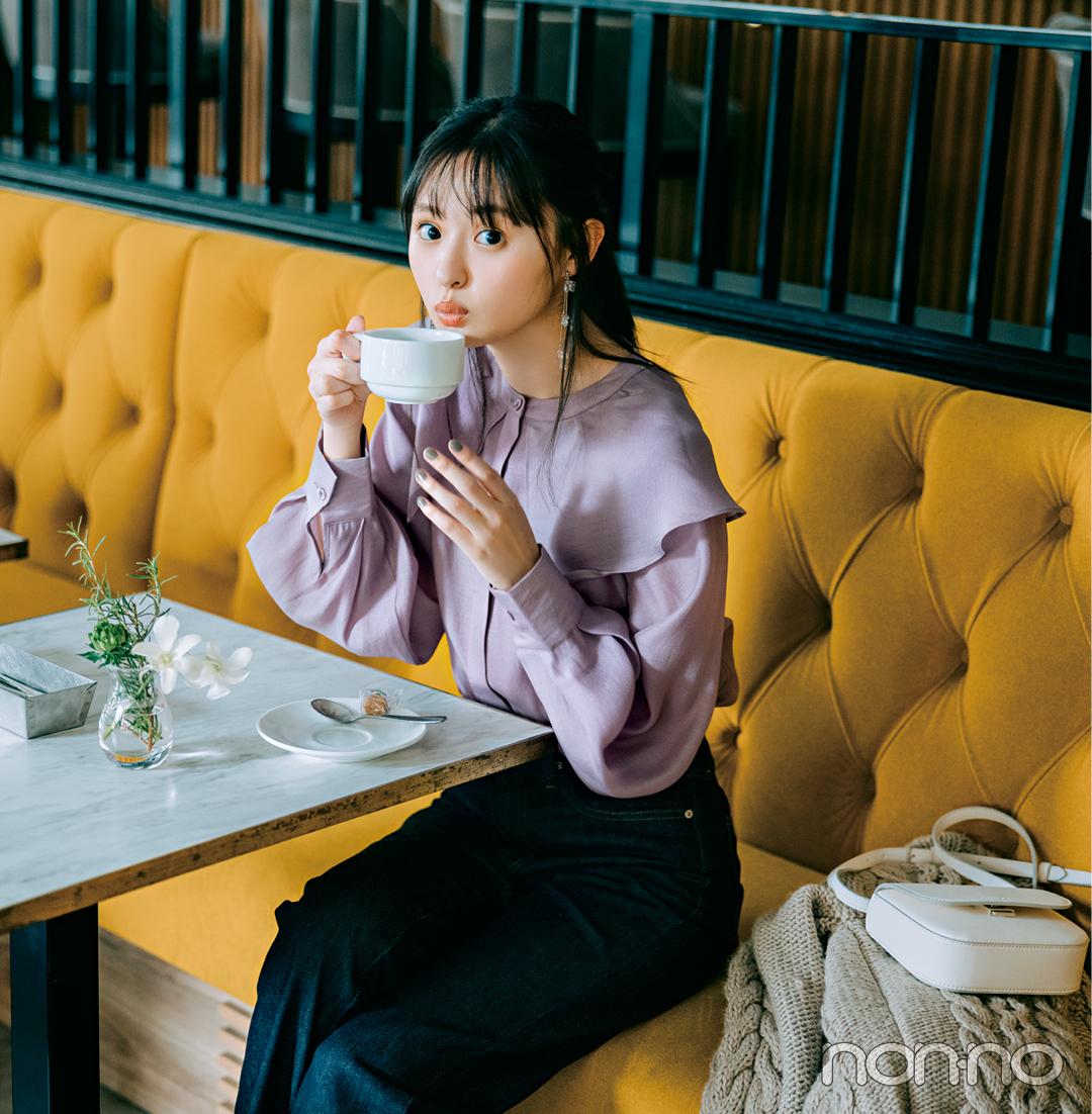 遠藤さくらの1女の秋の大学生コーデDay10