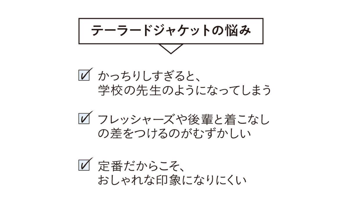 「細ラペルテーラード」ジャケット_1