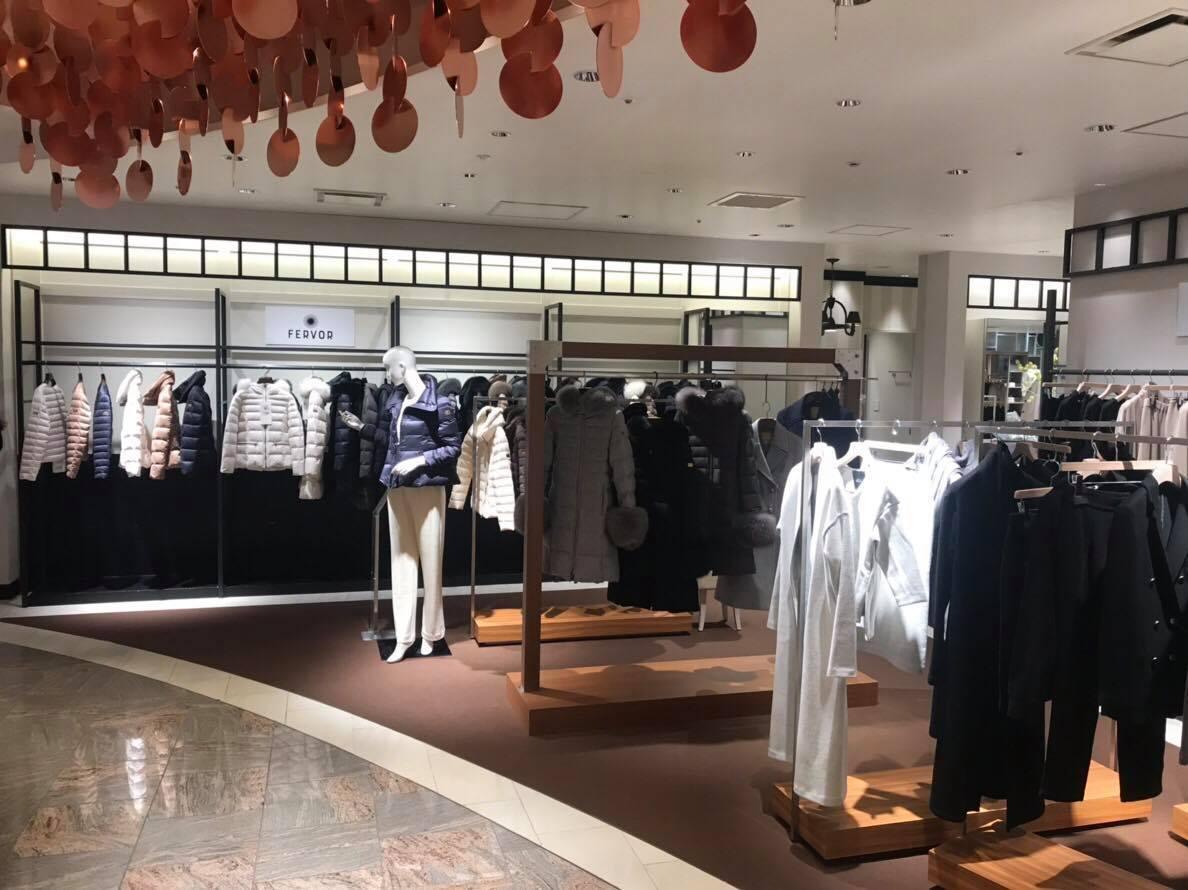 ファッション FERVORのポップアップショップが伊勢丹新宿店で開催中