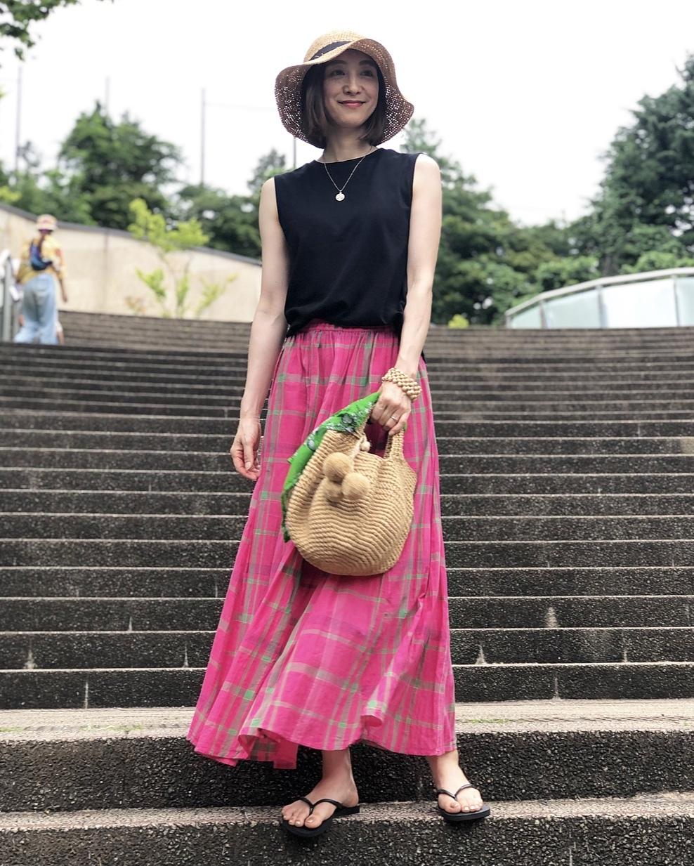 ピンクスカートで、岡本太郎美術館へ❤︎_1_2
