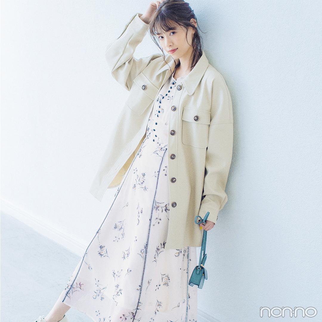 新川優愛はラベンダーの小花柄ワンピでおしゃれモチベアップ!【毎日コーデ】_1_2-1