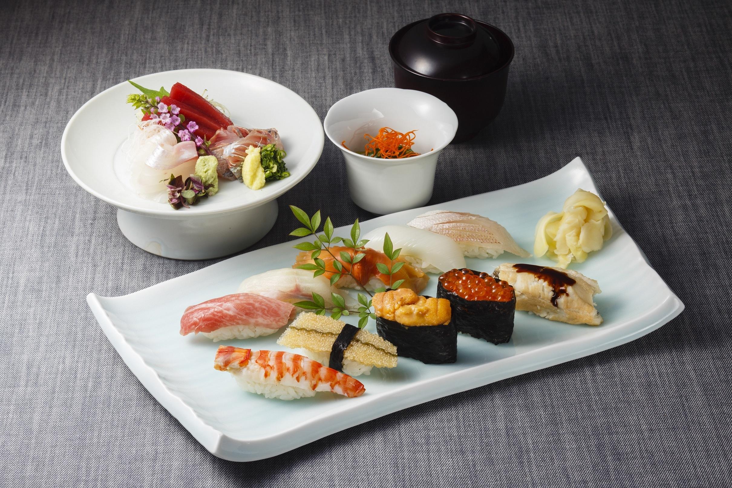 水簾のランチの寿司