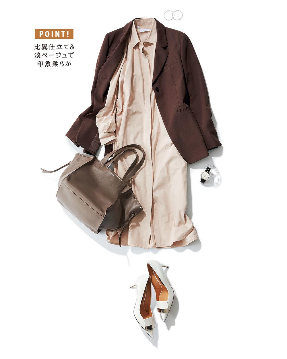 「一枚でサマ見えワンピ」 きちんと見えて女っぽいシャツワンピースはお仕事に最適!_1_1-3