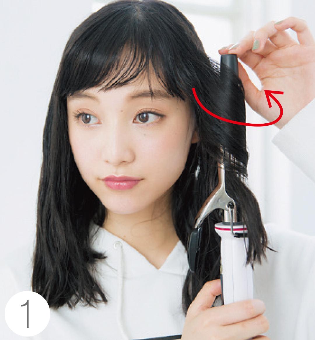 山田愛奈がお手本! 透明感カラーの黒髪でヘアアレンジ★_1_4-1