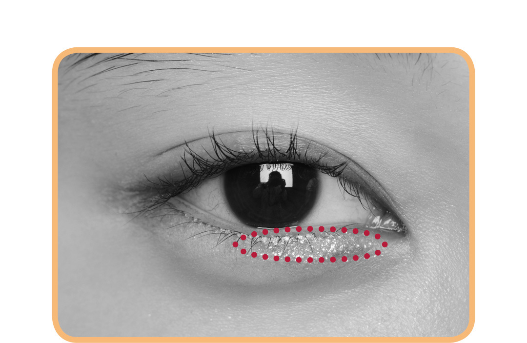 キラキラアイシャドウは、入れる場所で印象激変! 涙袋、目頭、目尻…5つのテクを伝授!_1_3-2