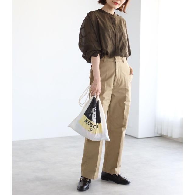 秋色シアーシャツでマニッシュコーデ【tomomiyuコーデ】_1_5
