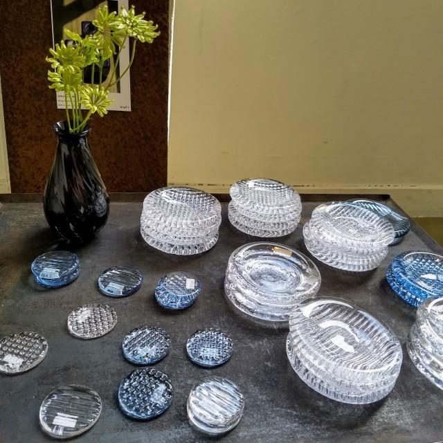 GRICE*お米が溶け込んだ青いガラス ~花岡央 glass展にて~_1_5-2