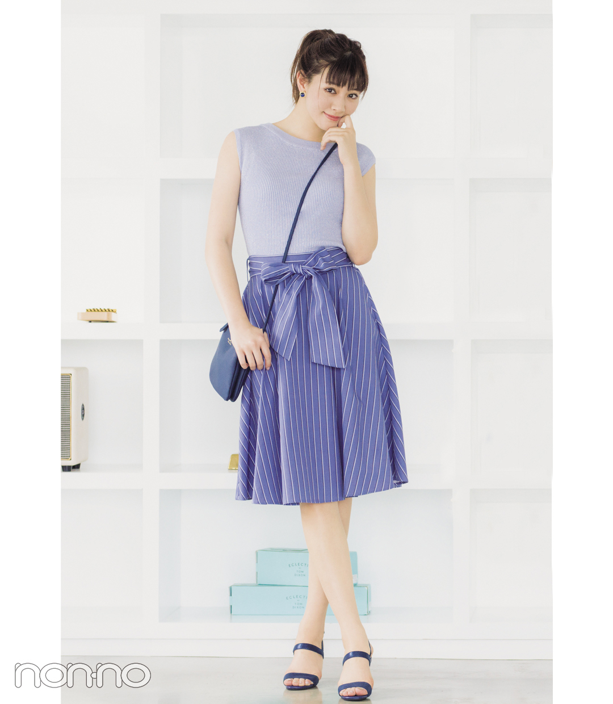 細見え&涼し気見えが叶うストライプスカート、真夏のコーデ3選!_1_1-3