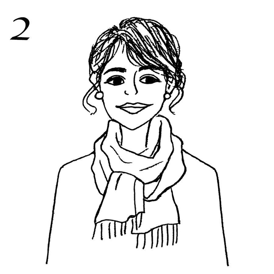 アウターに合わせたストール術「ジャケット×汎用性の高いベーシック巻き」_1_3-2