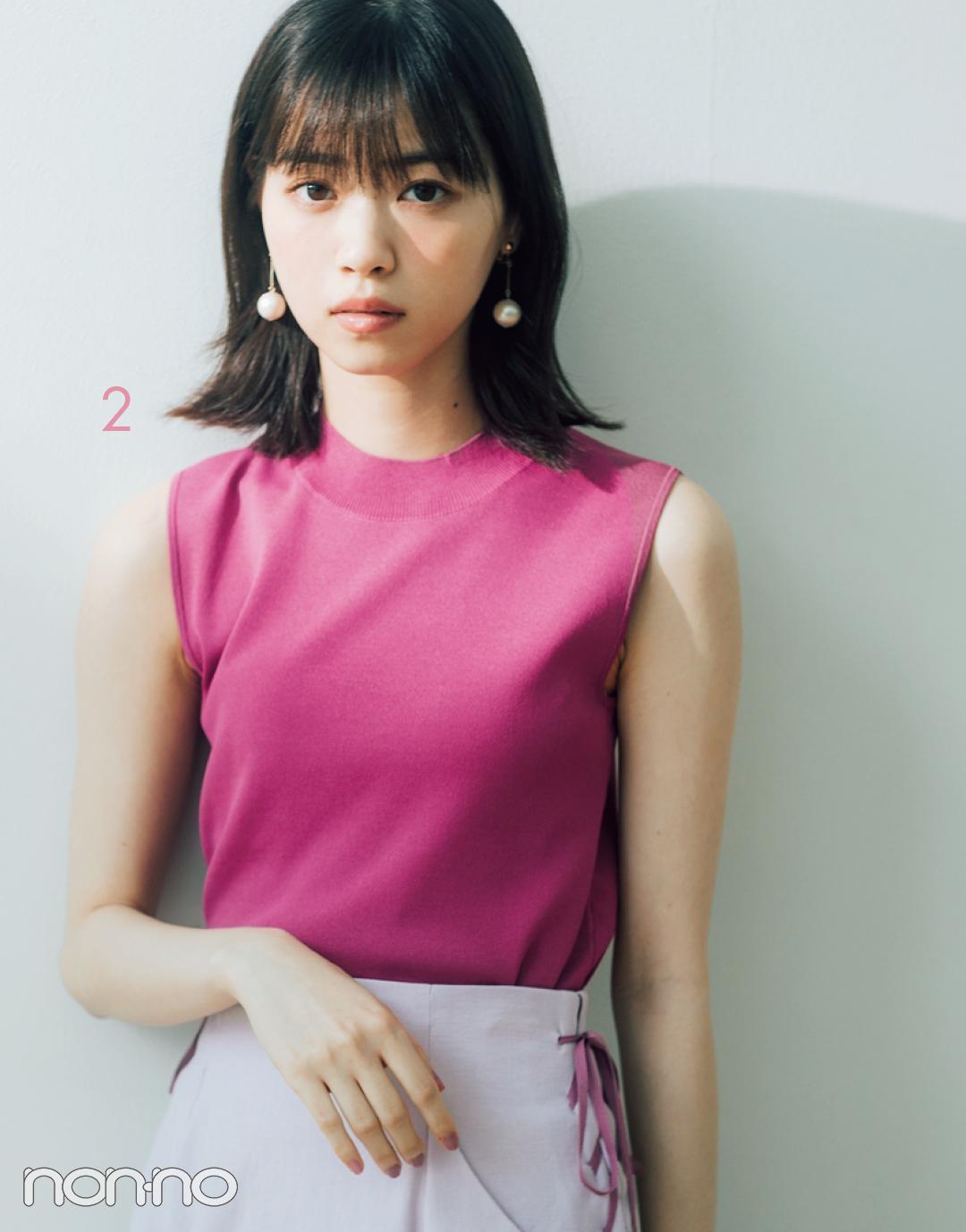 西野七瀬のセットアップで着回しコーデ1×7♡ 淡いピンクはきれいめ派に必須!_1_3-2