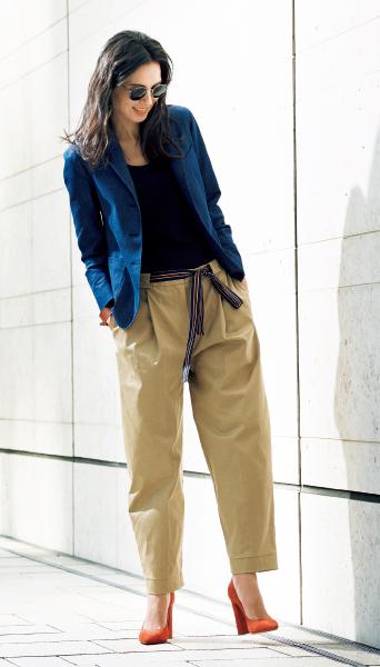 """スタイリスト・池田奈加子流 ヨーロッパ流の女らしさを表現した""""大人のチノパンツ着こなし術""""_1_1-3"""