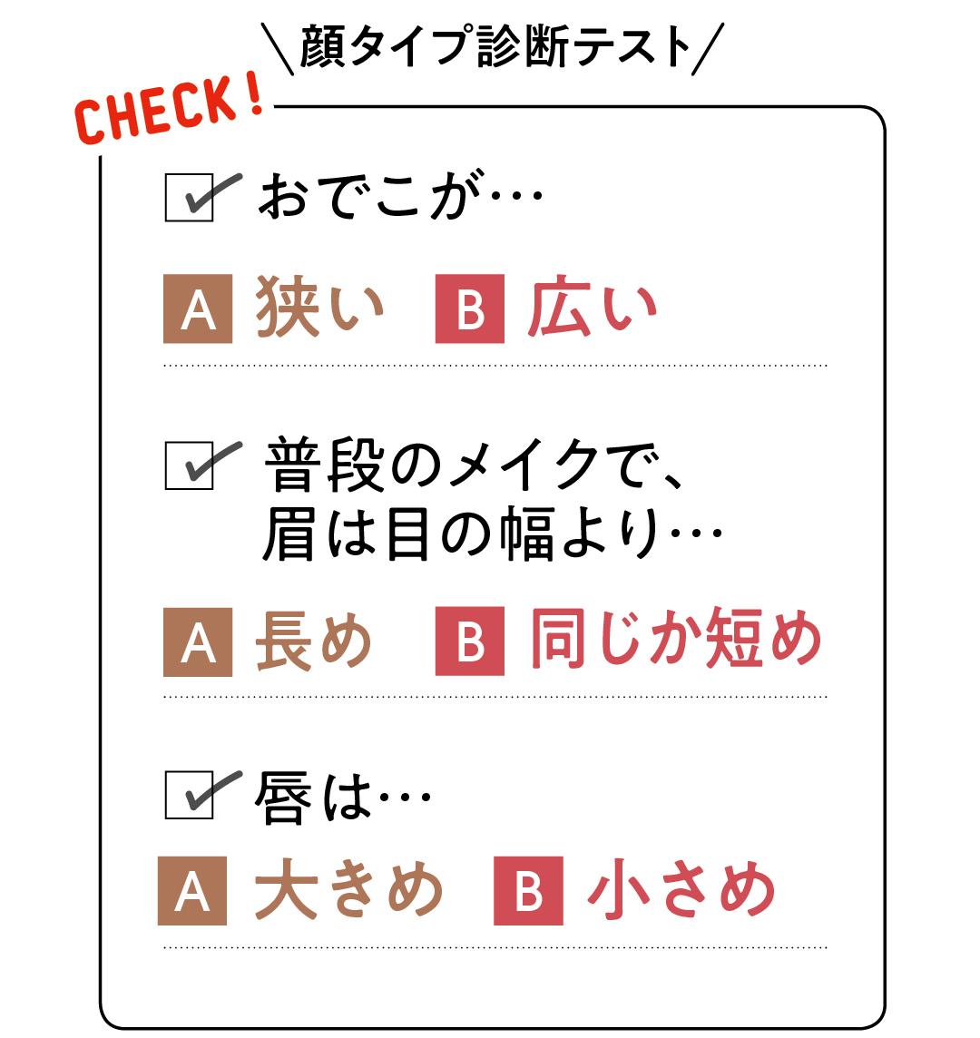 顔タイプ別診断テスト