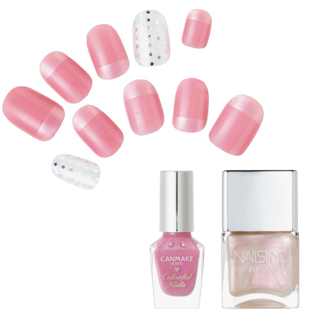 春の好感ネイル、優しく見せたいなら薄ピンクが正解★最旬デザインをチェック!_1_3