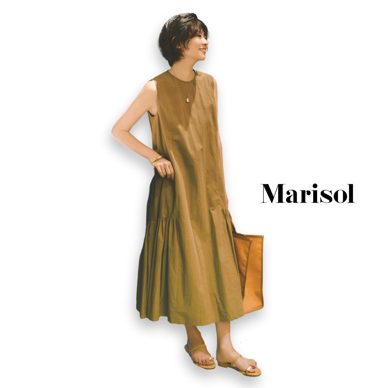 40代ファッション マキシ丈ワンピースコーデ