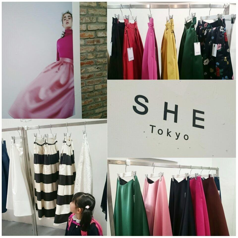 着ていると必ず褒められるスカート『SHE Tokyo』の2017AW新作展示会へ!_1_1