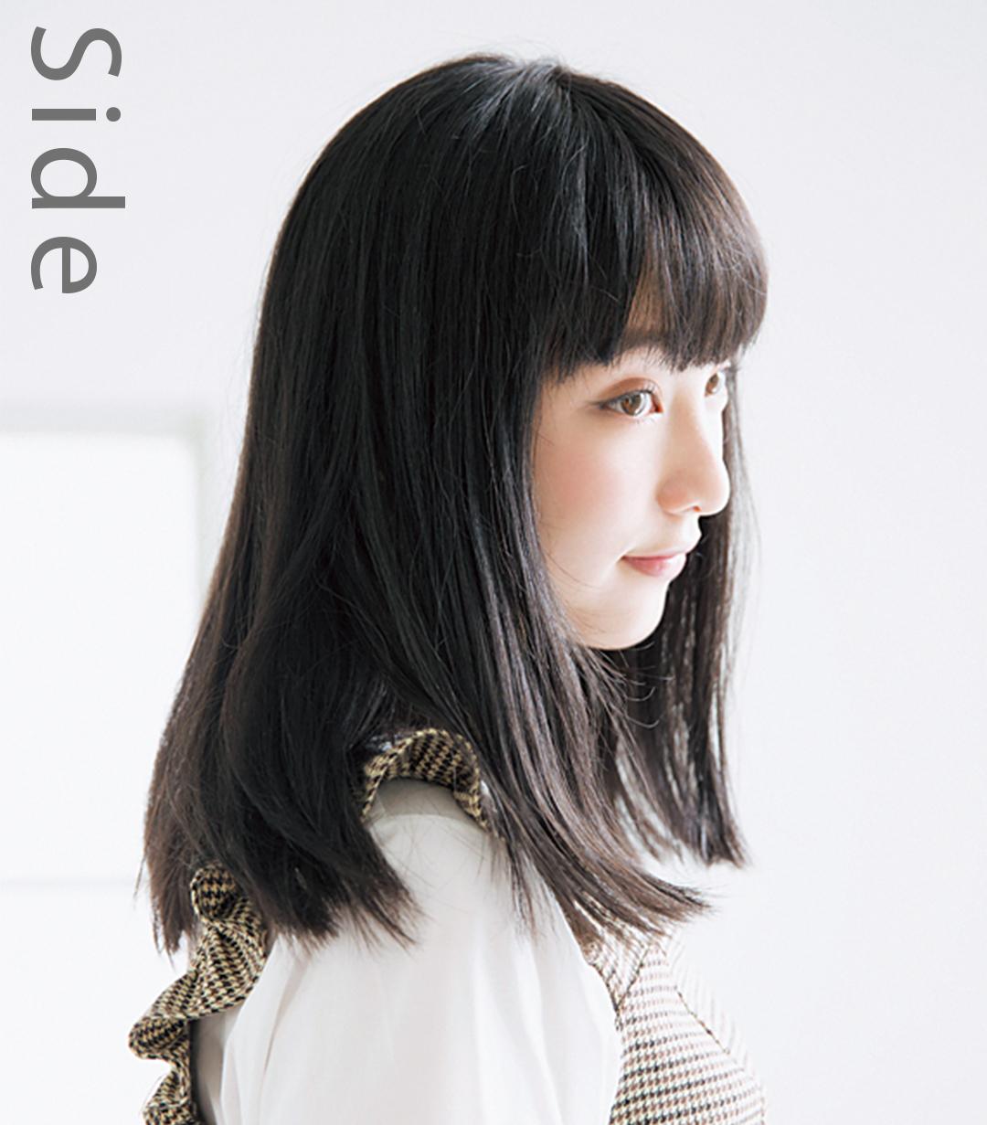 山田愛奈、20cm髪を切る! 小顔前髪&透明感カラーのお手本ヘアスタイル♡ _1_2-1