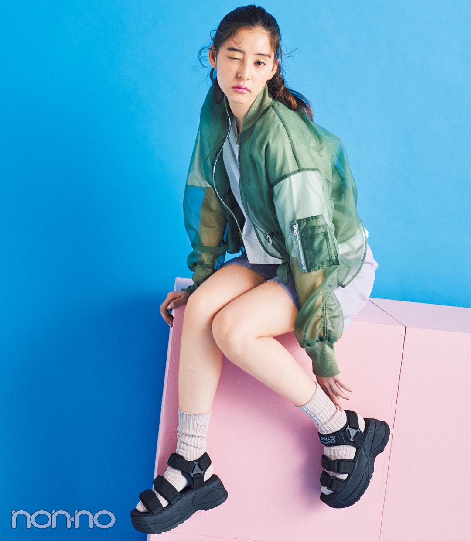 サンダル2019★ハイテク厚底スポサン系の靴下合わせ、正解教えます!_1_3