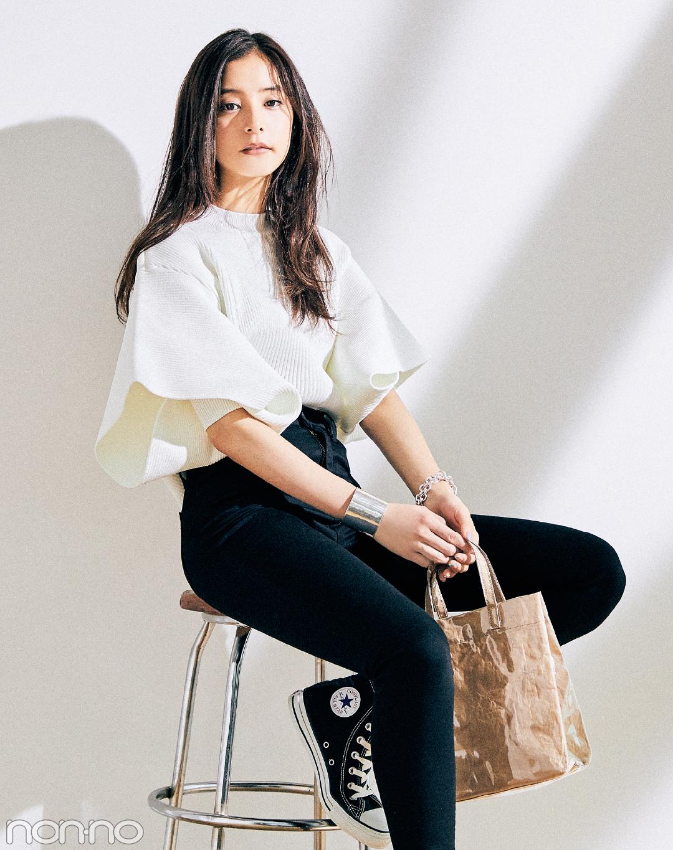 新木優子がこの秋キープした #きょコ盛れニット&コーデ、見せて!_1_3-1