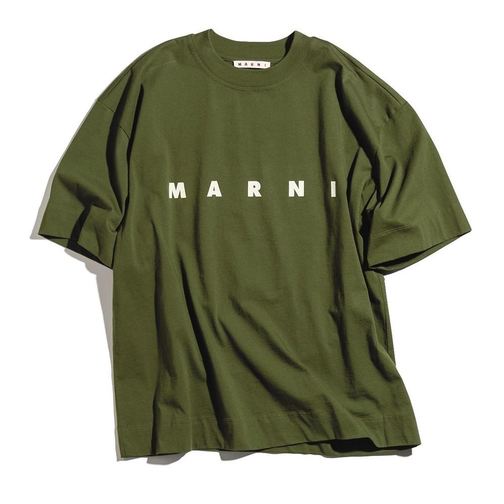 ファッション マルニのロゴTシャツ
