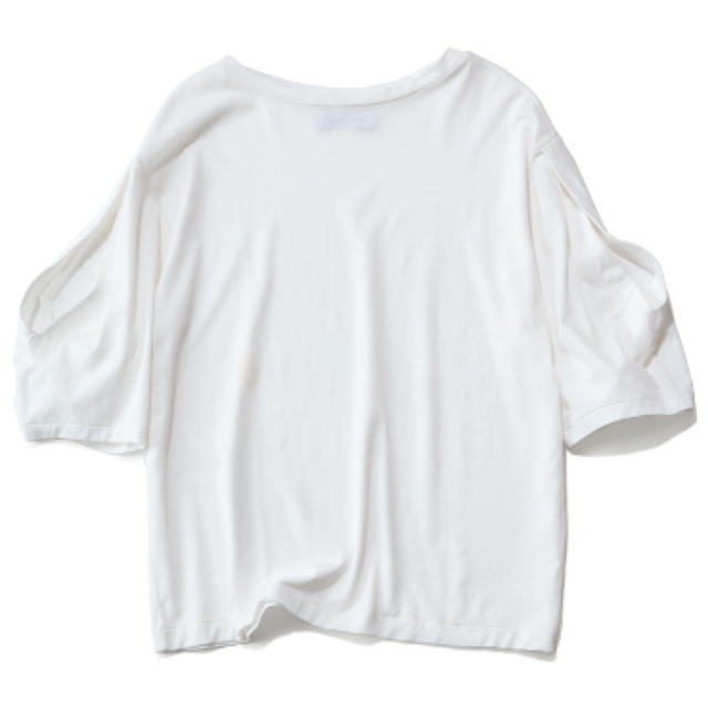 SAYAKA DAVIS オープンスリーブTシャツ(ホワイト)