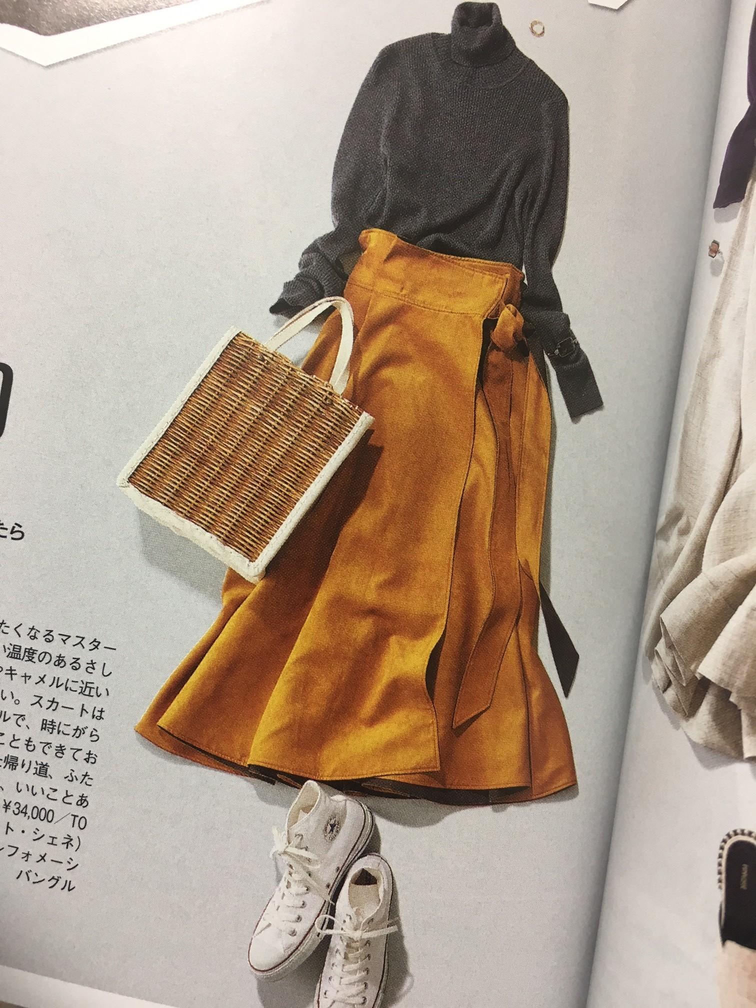 最近好きな「マスタード色」スカート_1_1