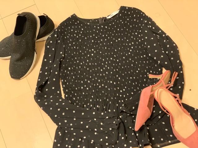 ZARAトップスと靴で春の着まわしコーデ_1_1