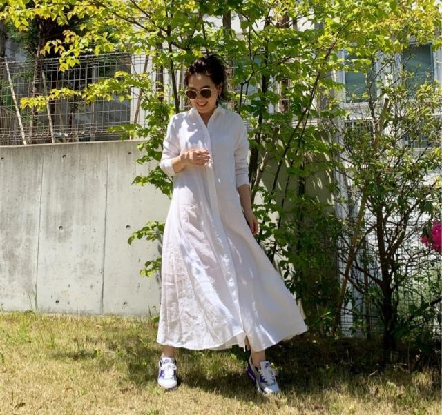 【STAY HOME】着用率高め!一枚で様になるシャツワンピース_1_4
