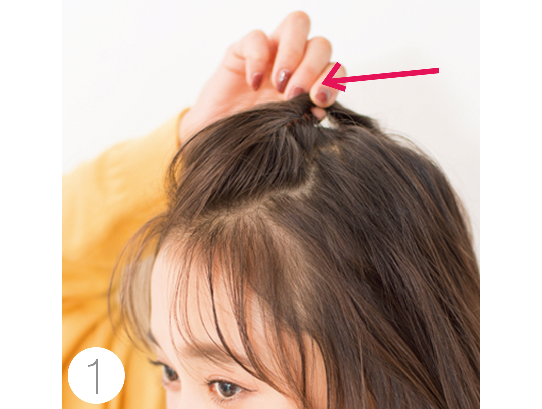 ミディアムさんの鍋パヘアアレンジ、束感のある後れ毛がポイント★_1_2-2
