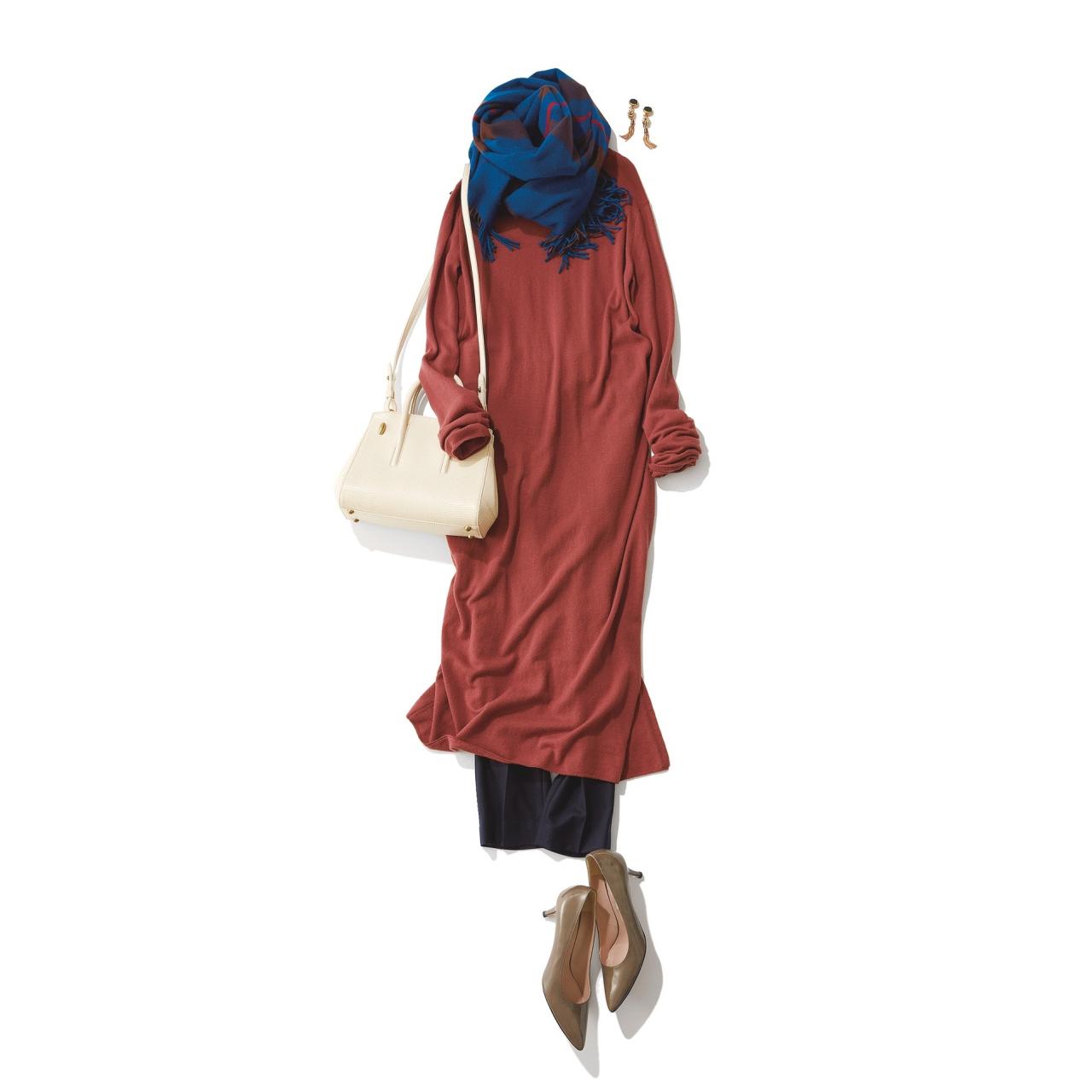 ワンピース×パンツのファッションコーデ