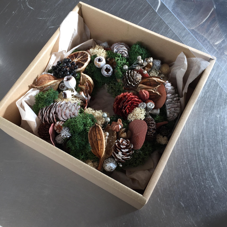 12月!我が家のクリスマスはスワッグから。_1_5
