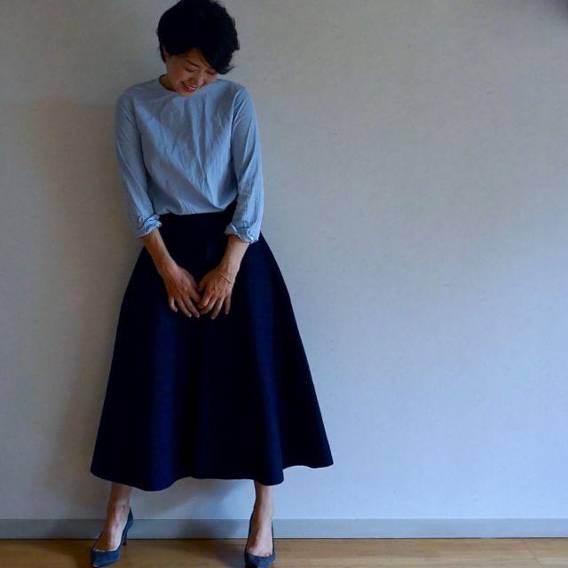 BLUEBIRD BOULEVARDのスカートで秋スタイル始め_1_1-6