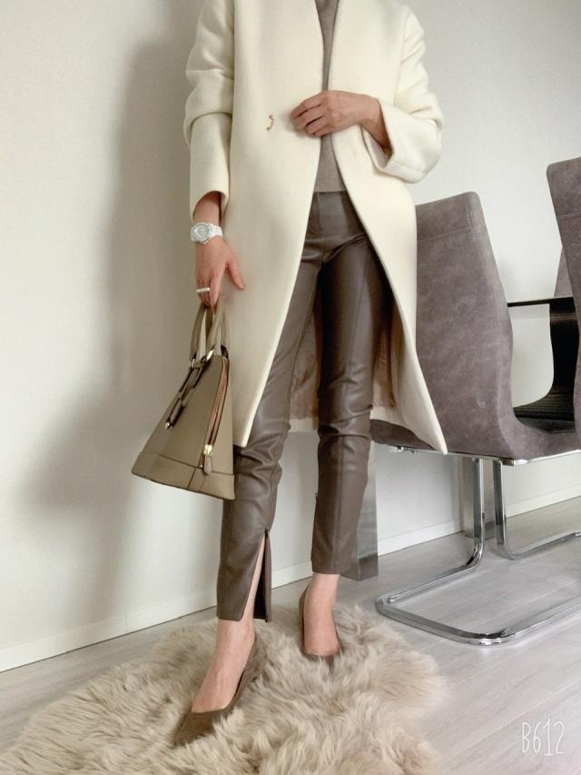 【エコレザー】のスカート&パンツで、冬コーデの鮮度がアップ! 40代ファッションまとめ_1_14