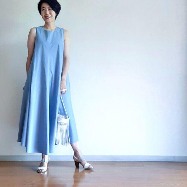【夏に映えるブルーコーデまとめ】アラフォーが上品かつこなれて見えるコーデのポイントとは? |40代ファッション_1_18