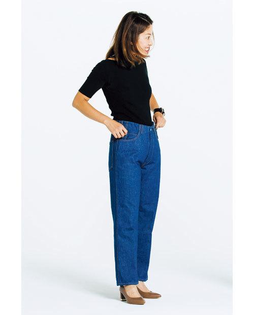 カービーな体型でも履けるデニムを探して!噂のデニムを履き比べてみました_1_4-4
