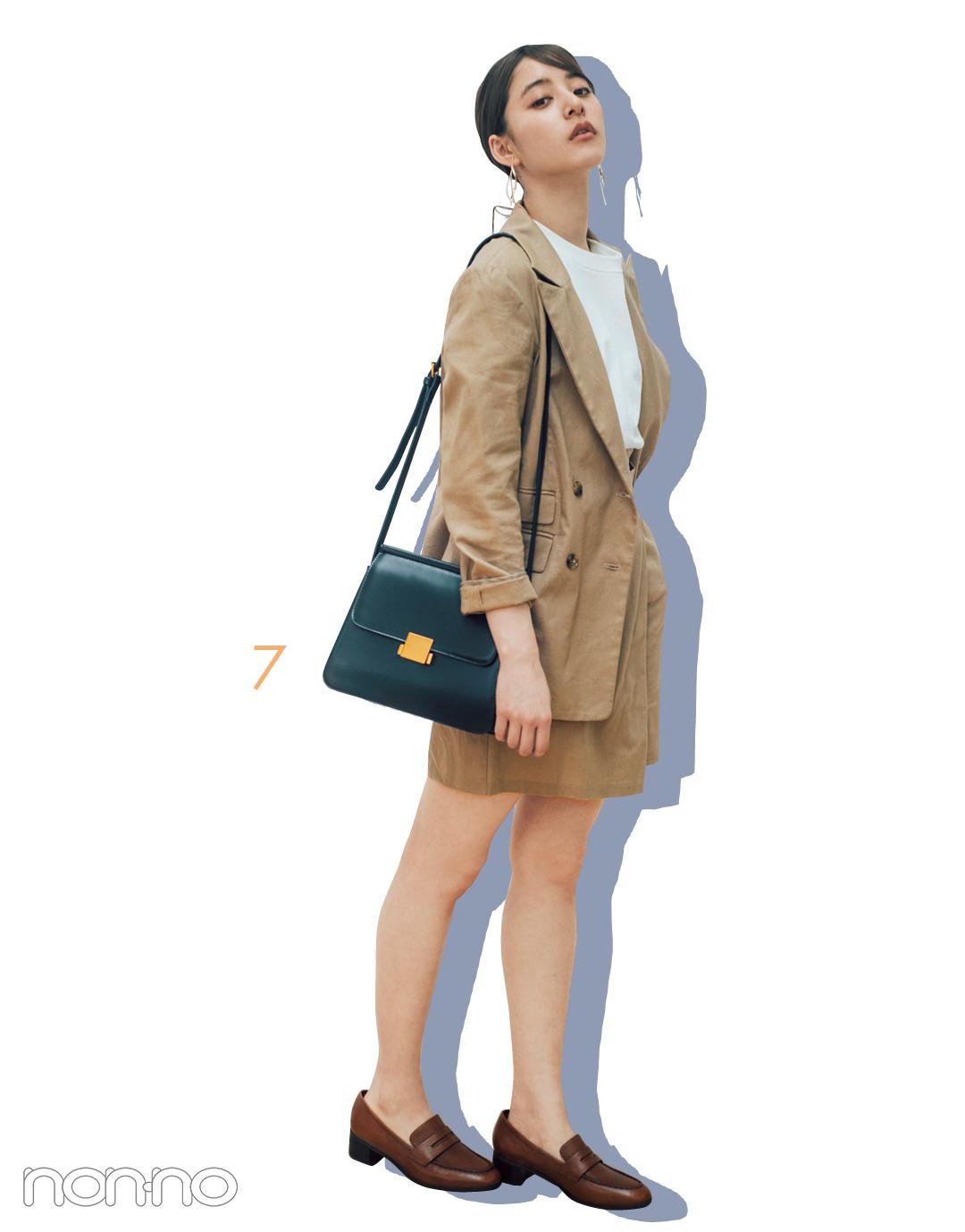 新木優子のシンプル白Tシャツ着回しコーデ、7通り! _1_3-7