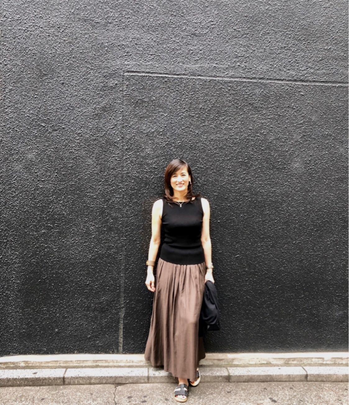 ブラウンスカートで秋コーデ_1_2