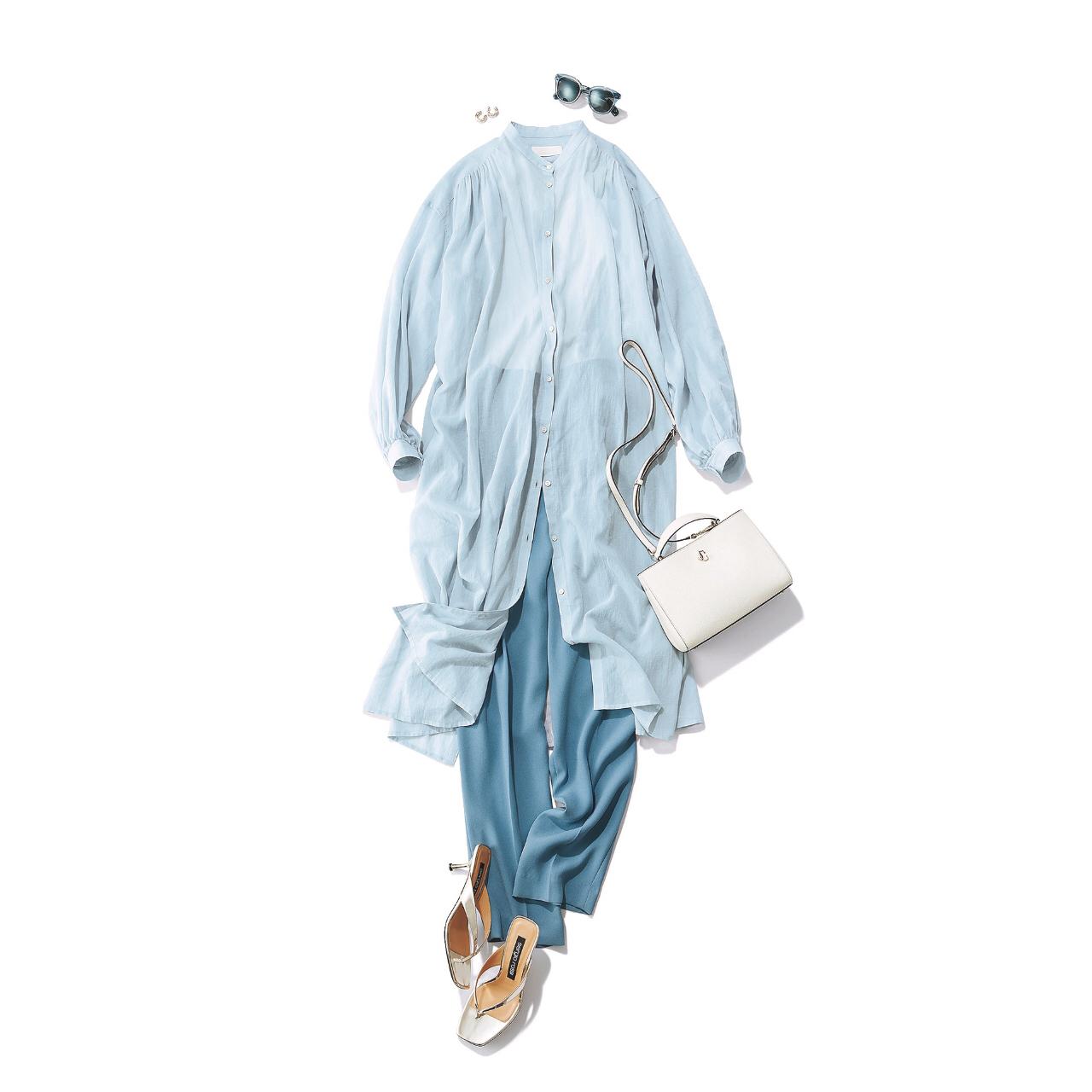 【夏に映えるブルーコーデまとめ】アラフォーが上品かつこなれて見えるコーデのポイントとは? |40代ファッション_1_8