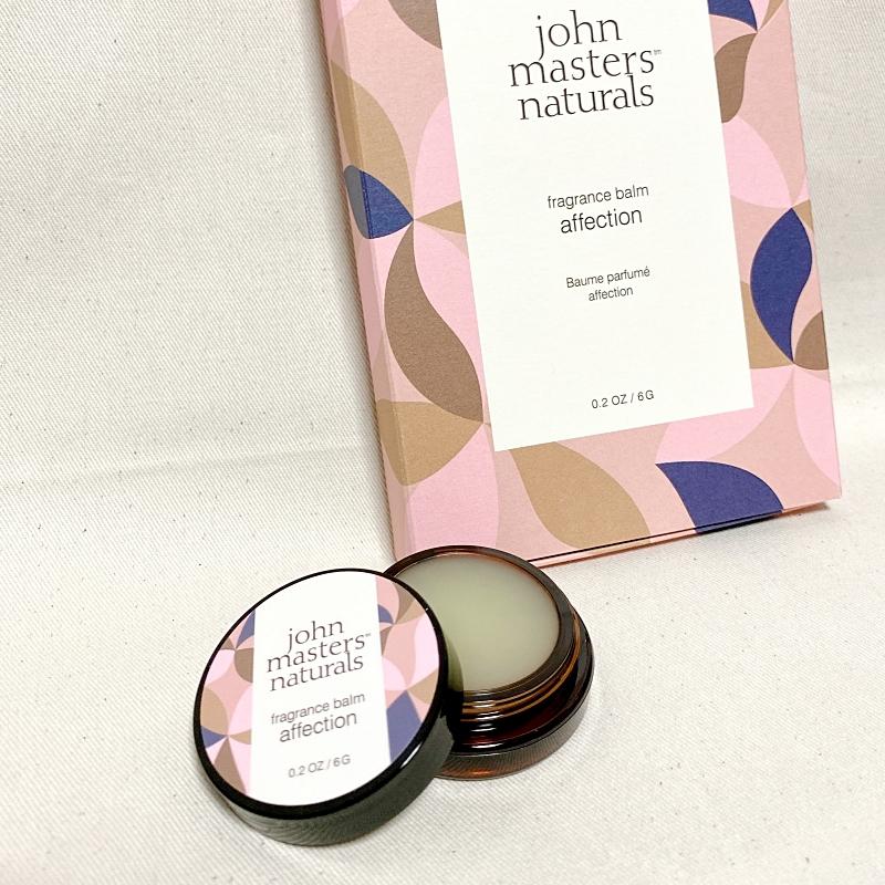 ジョンマスターオーガニックのホリデーコレクション2020のフレグランスバームアフェクション