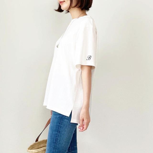 この夏の大本命!プチプラ刺繍ロゴTシャツ【tomomiyuコーデ】_1_3