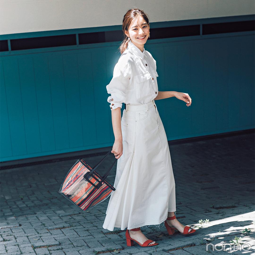 新木優子は黒のオールインワンでちょっぴりモードな夏コーデ【毎日コーデ】_1_2-2