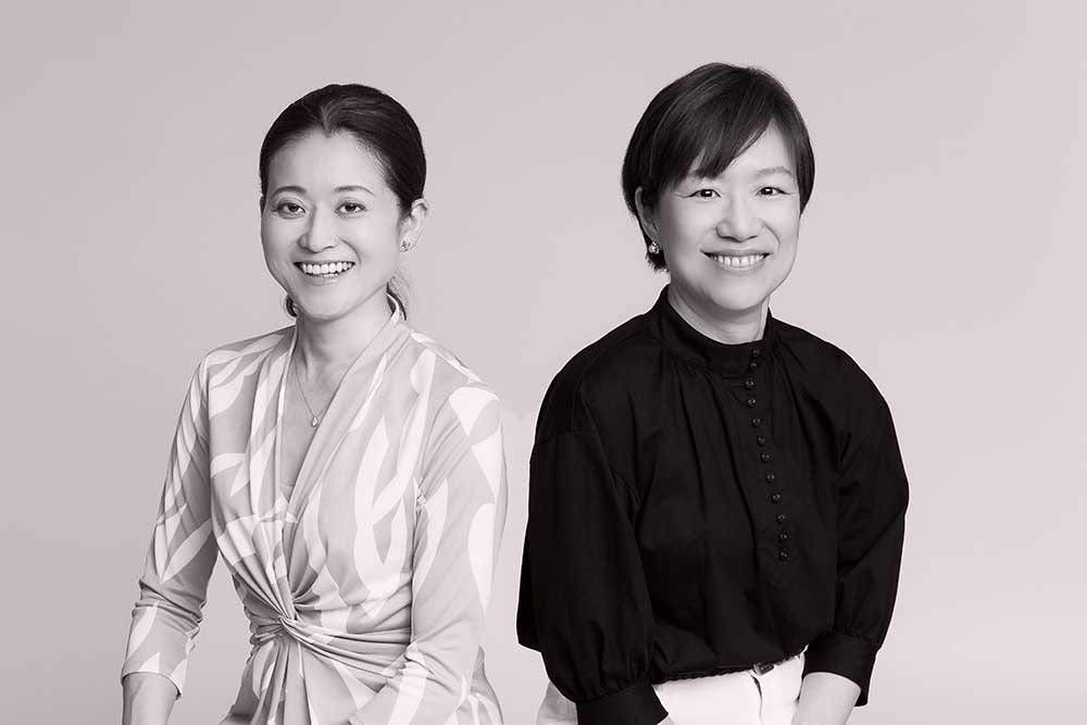 中西知子さん(左)と北風祐子さん(右)